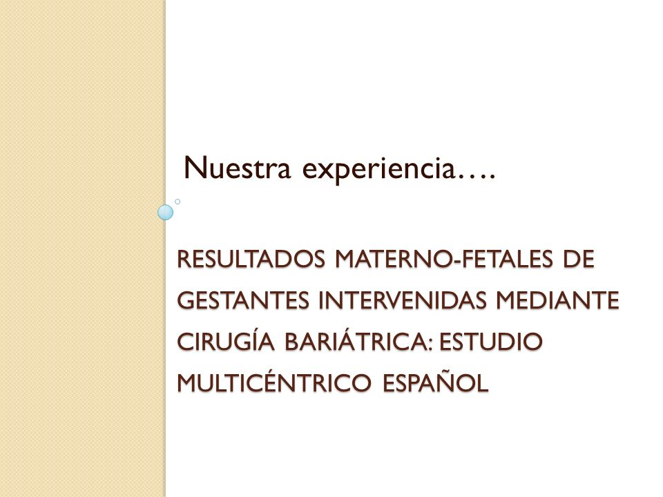 Nuestra experiencia….