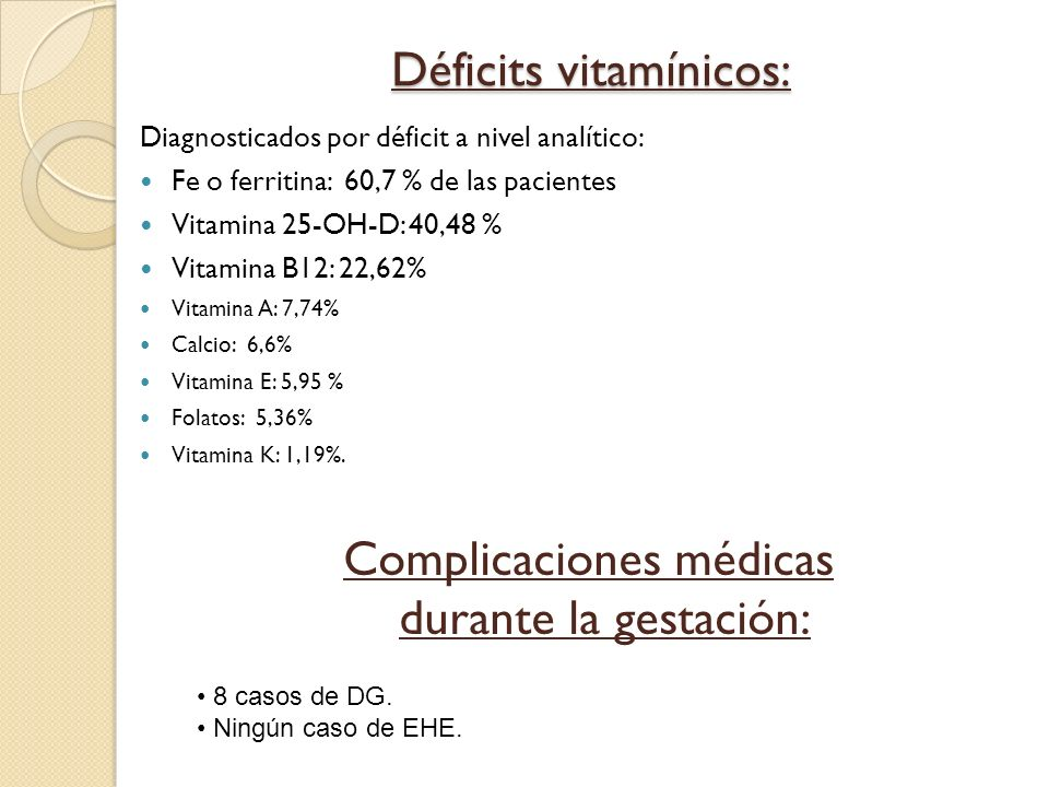 Déficits vitamínicos: