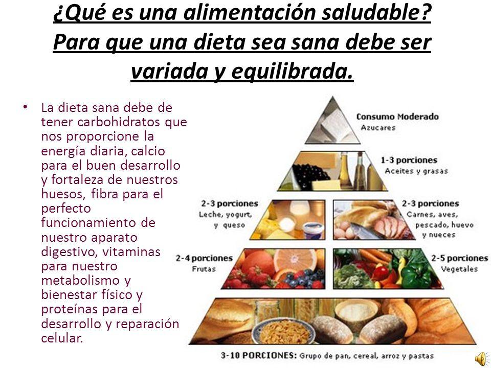 ¿Qué es una alimentación saludable