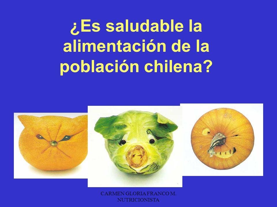 ¿Es saludable la alimentación de la población chilena