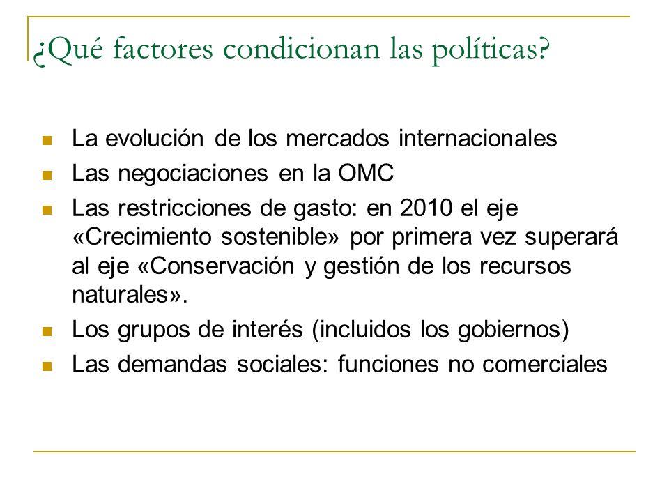 ¿Qué factores condicionan las políticas