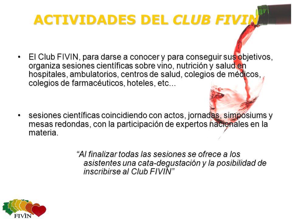 ACTIVIDADES DEL CLUB FIVIN