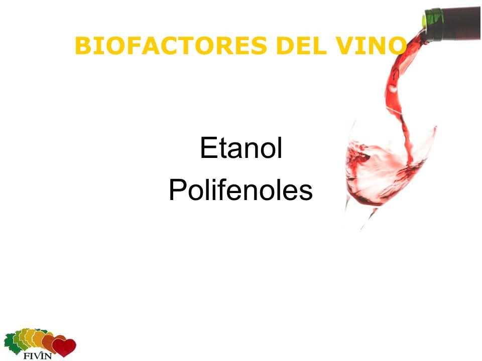 BIOFACTORES DEL VINO Etanol Polifenoles