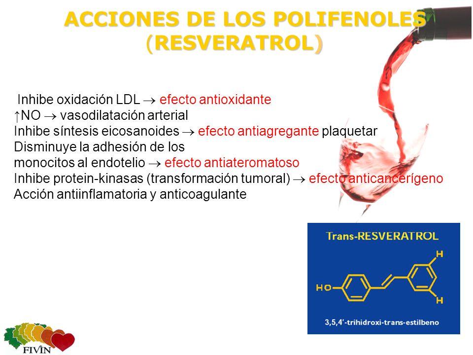 ACCIONES DE LOS POLIFENOLES (RESVERATROL)