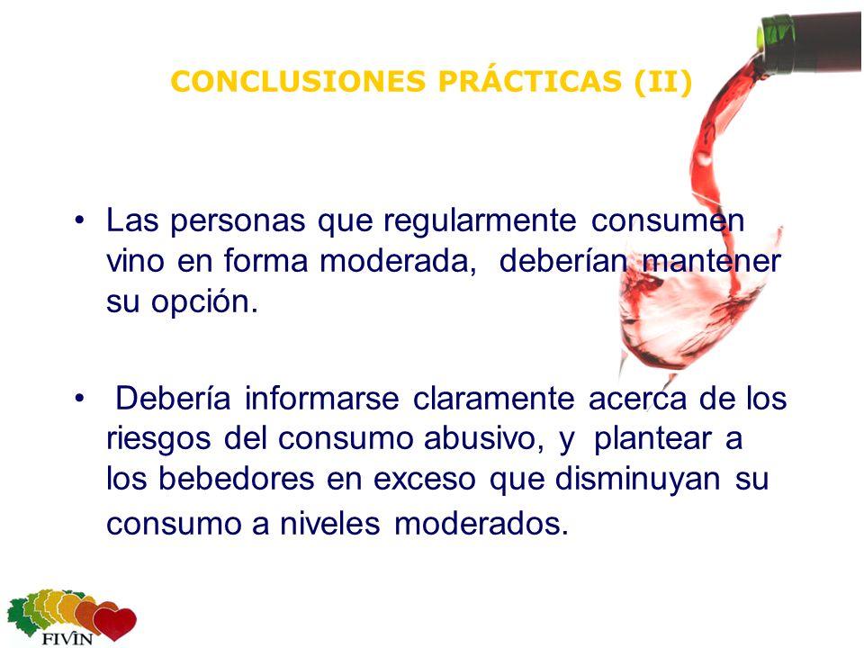 CONCLUSIONES PRÁCTICAS (II)