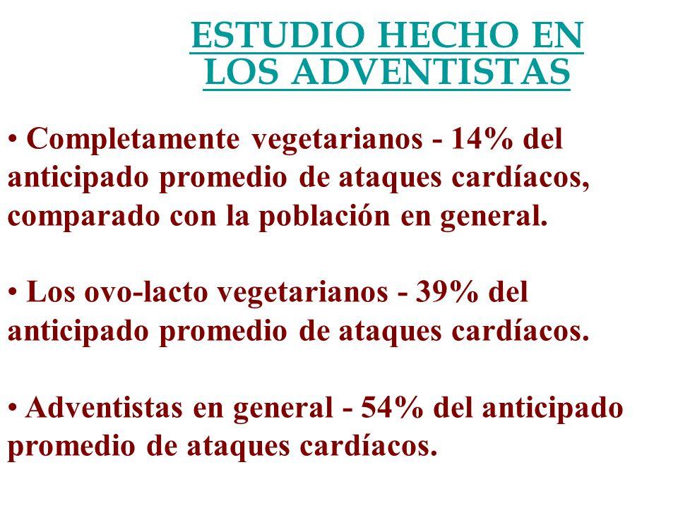 ESTUDIO HECHO EN LOS ADVENTISTAS