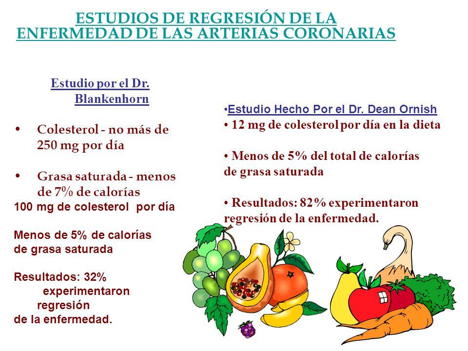 ESTUDIOS DE REGRESIÓN DE LA ENFERMEDAD DE LAS ARTERIAS CORONARIAS