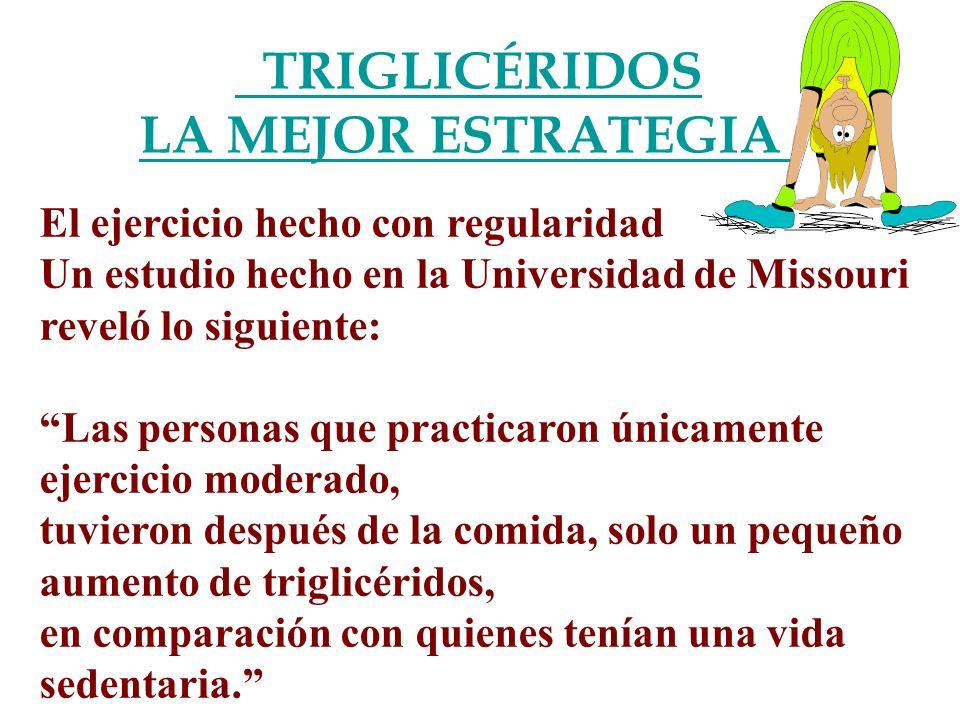 TRIGLICÉRIDOS LA MEJOR ESTRATEGIA