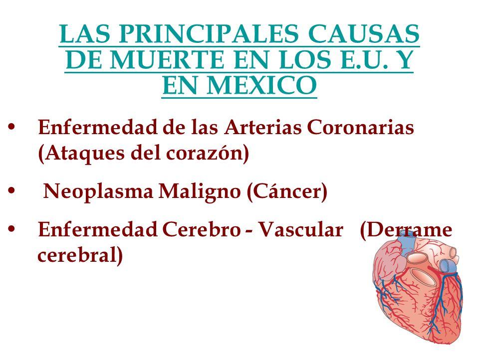 LAS PRINCIPALES CAUSAS DE MUERTE EN LOS E.U. Y EN MEXICO