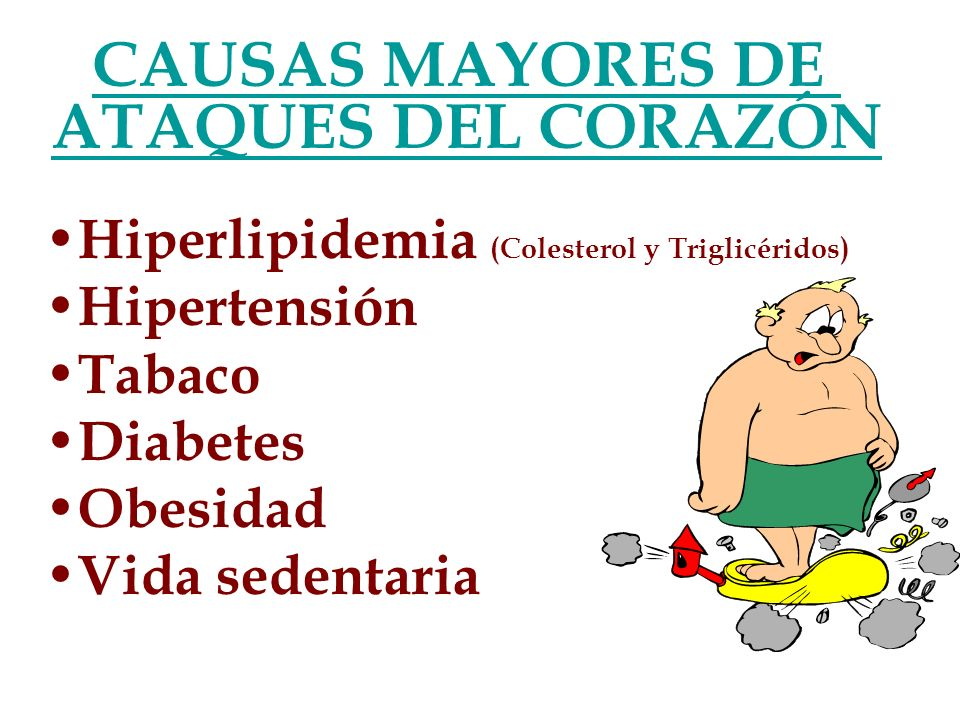 CAUSAS MAYORES DE ATAQUES DEL CORAZÓN