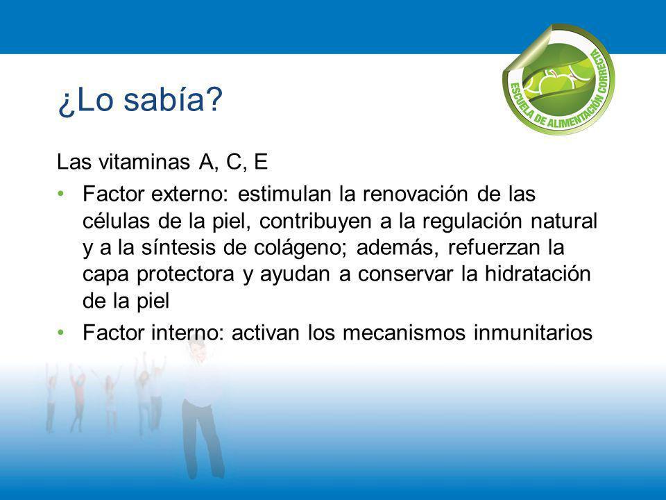 ¿Lo sabía Las vitaminas A, C, E