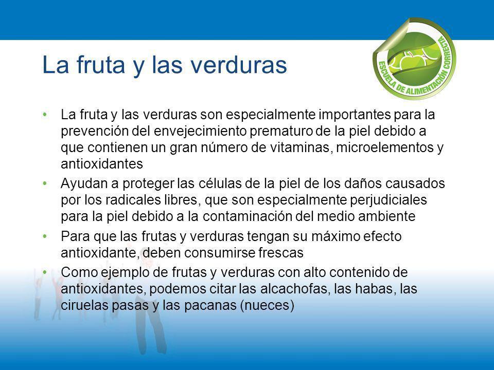 La fruta y las verduras