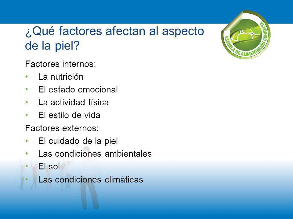 ¿Qué factores afectan al aspecto de la piel
