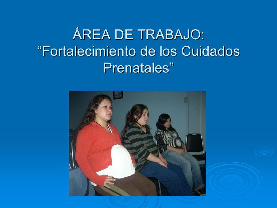 ÁREA DE TRABAJO: Fortalecimiento de los Cuidados Prenatales