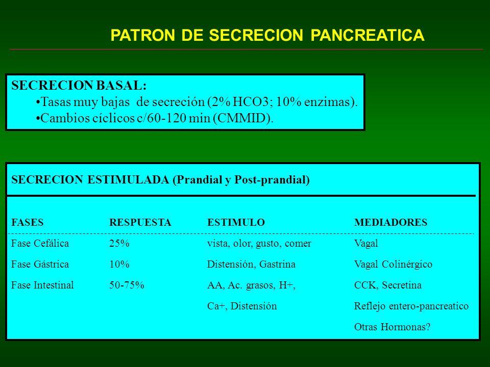 PATRON DE SECRECION PANCREATICA