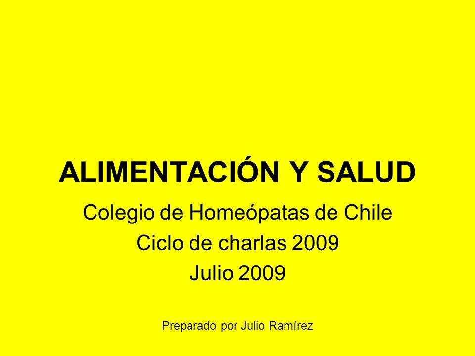 Colegio de Homeópatas de Chile Ciclo de charlas 2009 Julio 2009