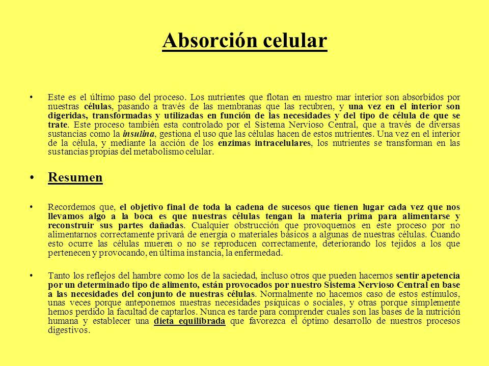 Absorción celular Resumen