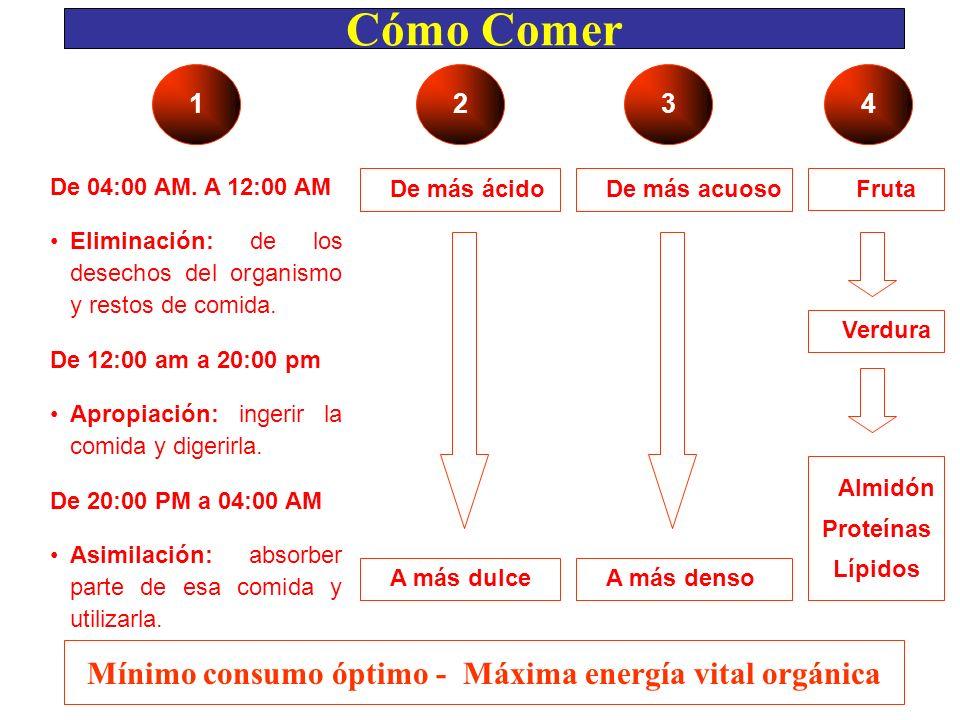 Mínimo consumo óptimo - Máxima energía vital orgánica