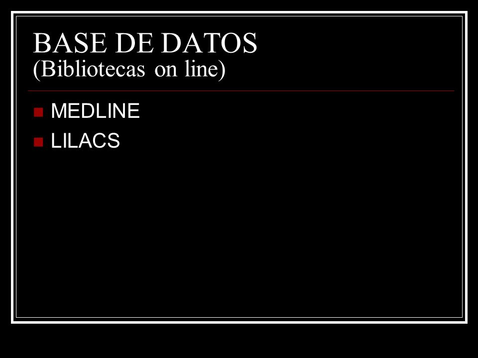 BASE DE DATOS (Bibliotecas on line)