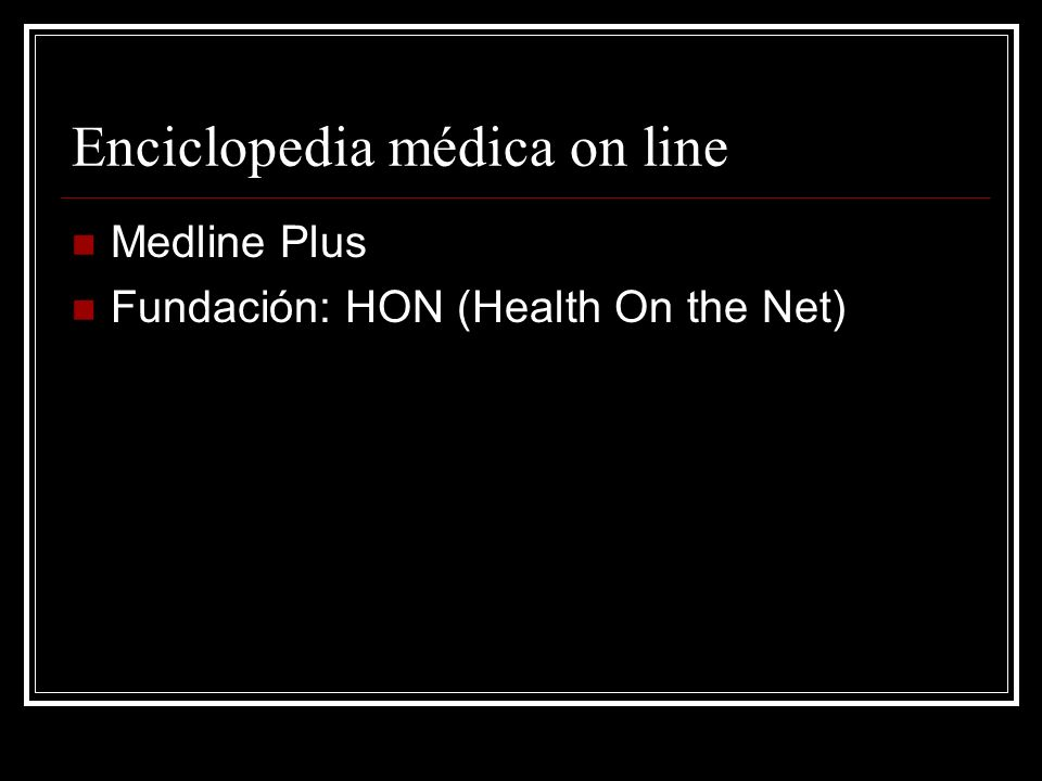 Enciclopedia médica on line