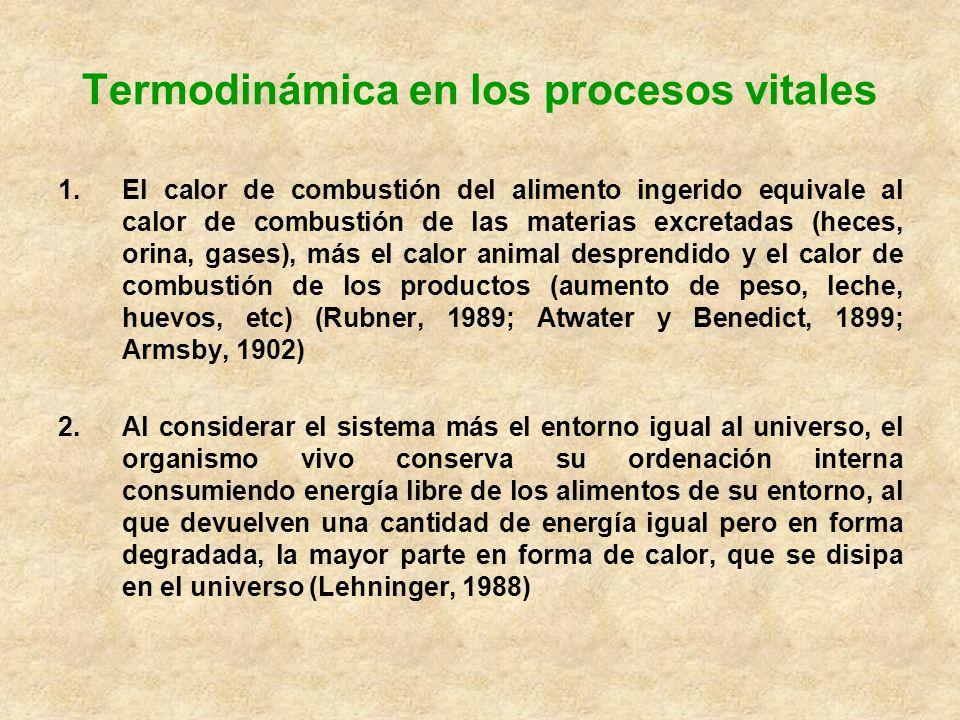 Termodinámica en los procesos vitales