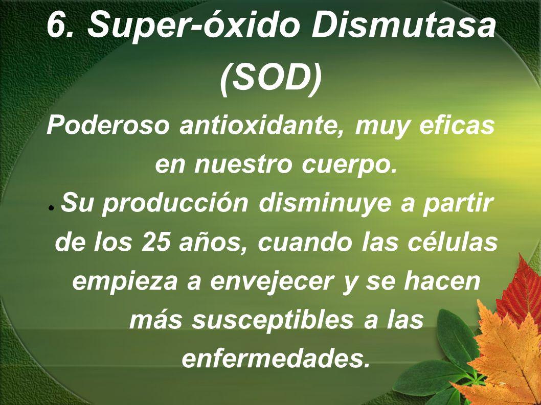 6. Super-óxido Dismutasa (SOD)