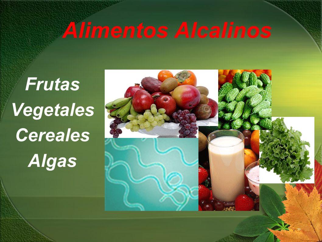 Frutas Vegetales Cereales Algas