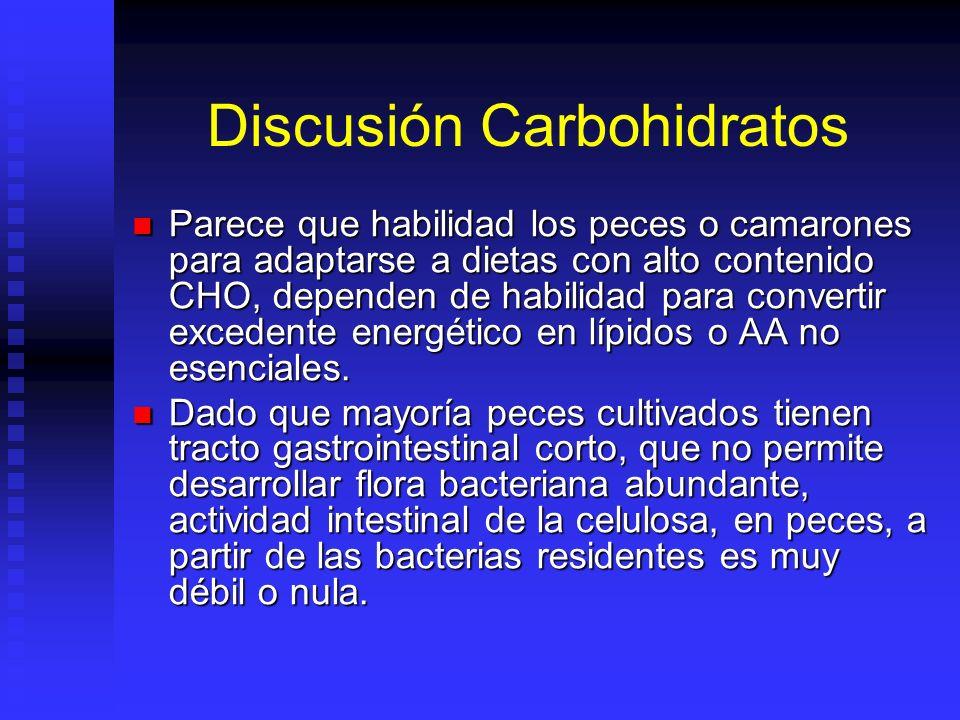 Discusión Carbohidratos