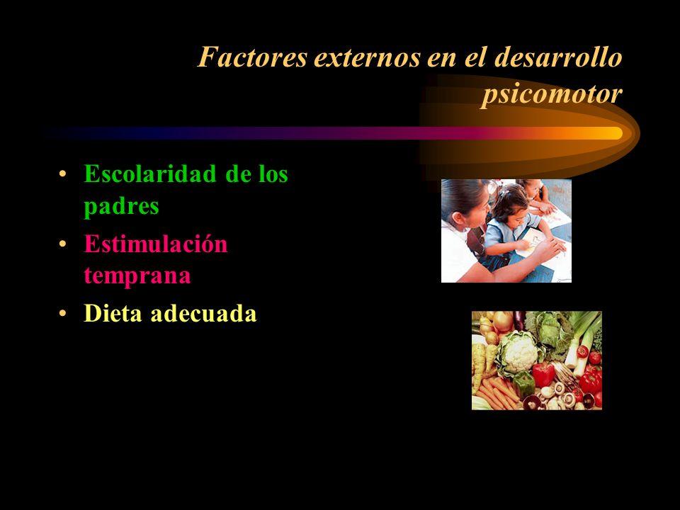 Factores externos en el desarrollo psicomotor