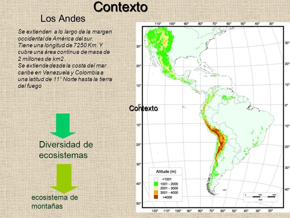 Contexto Los Andes Diversidad de ecosistemas Contexto