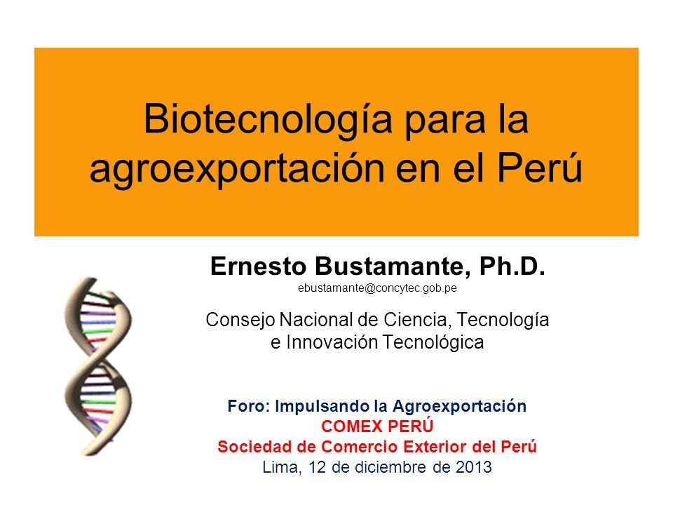 Biotecnología para la agroexportación en el Perú