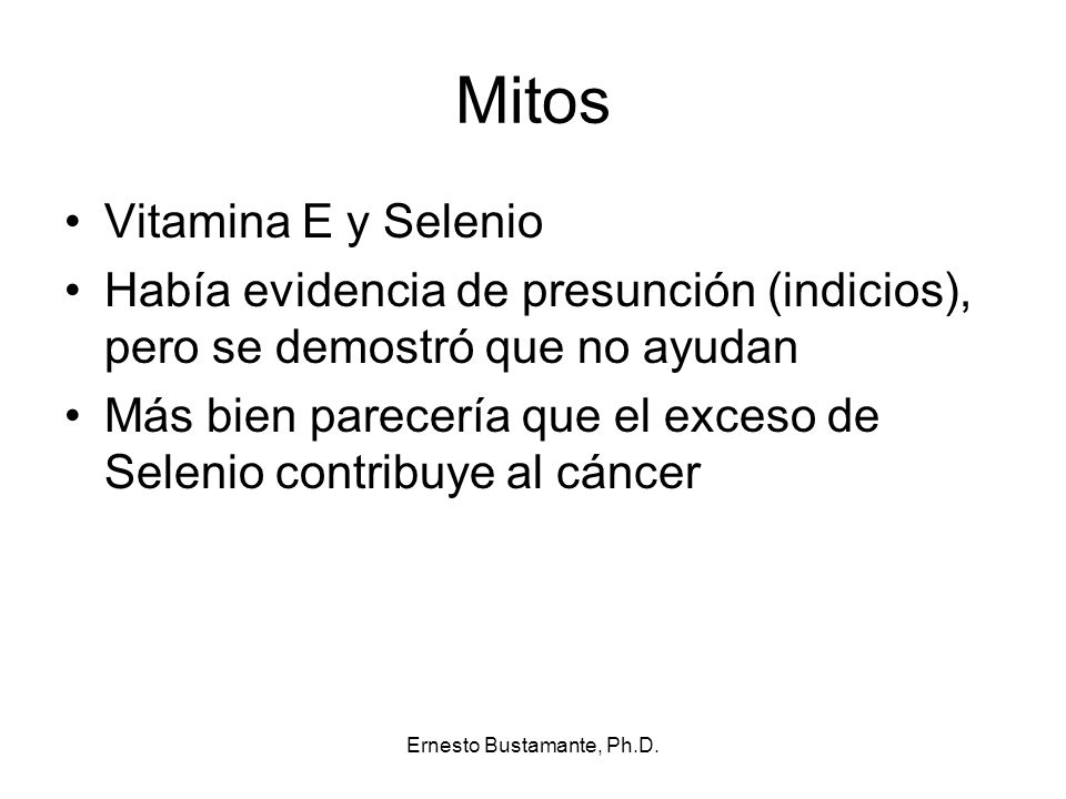 Ernesto Bustamante, Ph.D.