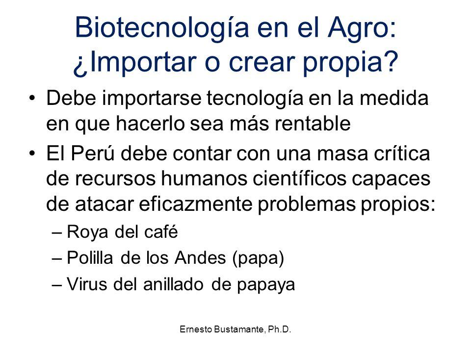 Biotecnología en el Agro: ¿Importar o crear propia