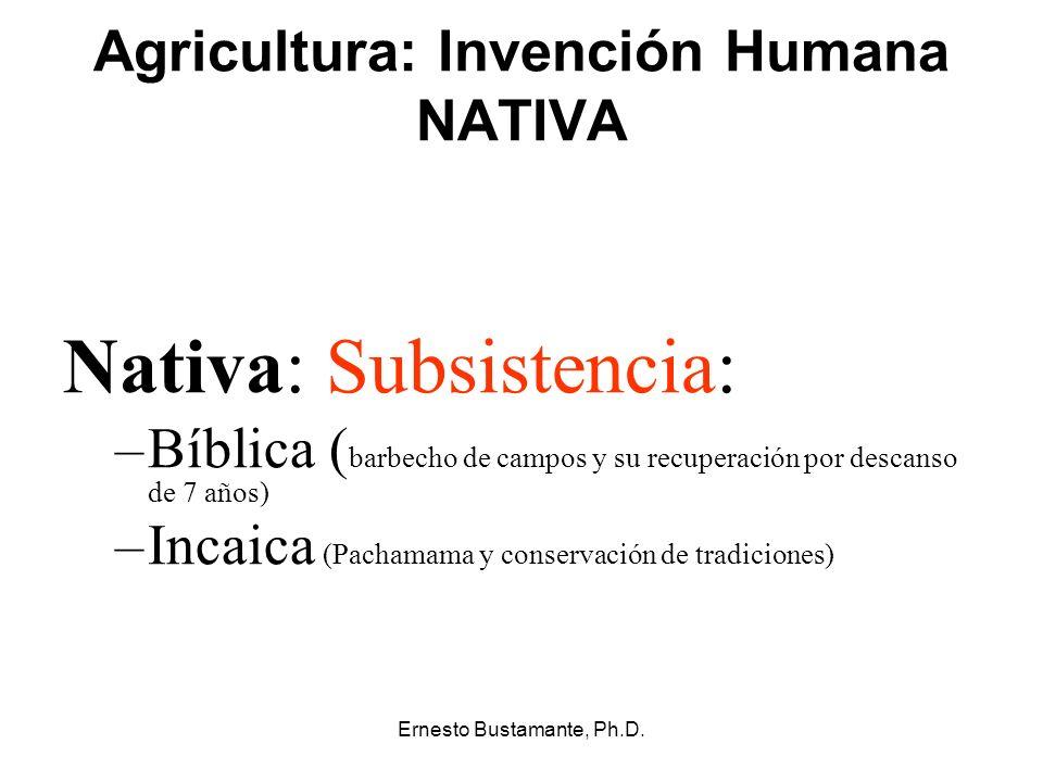 Agricultura: Invención Humana NATIVA