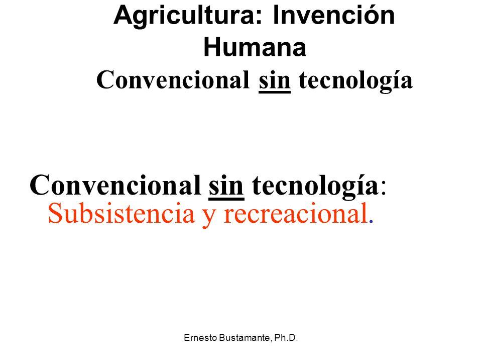 Agricultura: Invención Humana Convencional sin tecnología