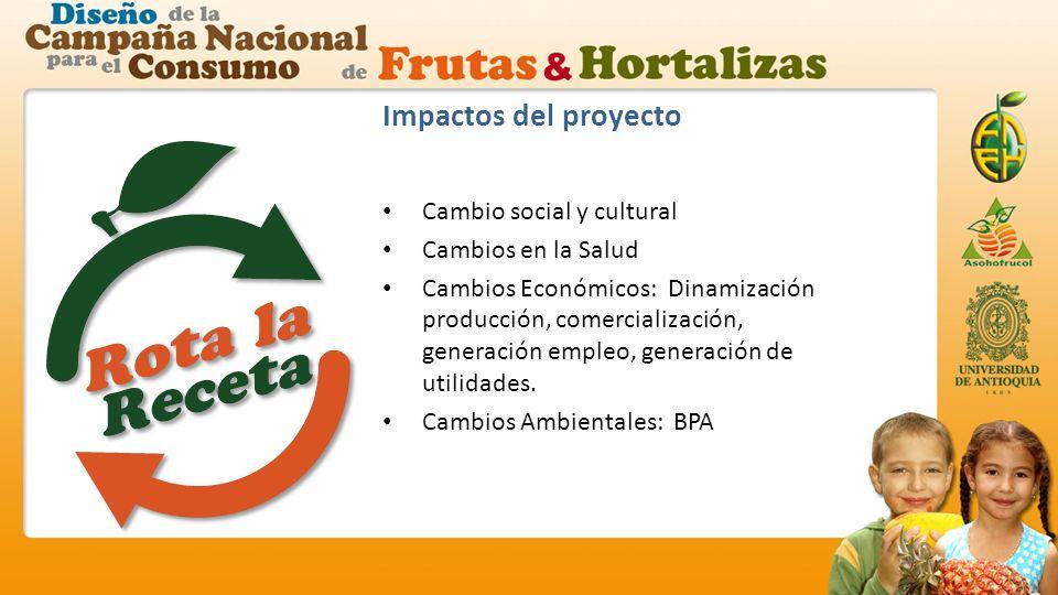 Impactos del proyecto Cambio social y cultural Cambios en la Salud