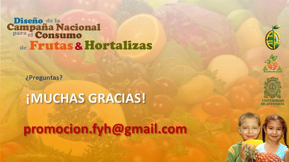 ¿Preguntas ¡muchas gracias! promocion.fyh@gmail.com