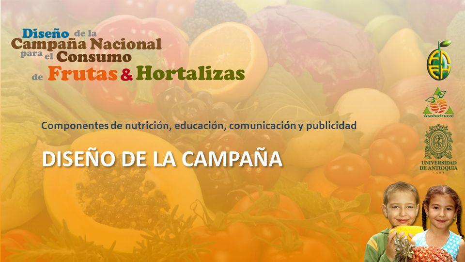 Componentes de nutrición, educación, comunicación y publicidad