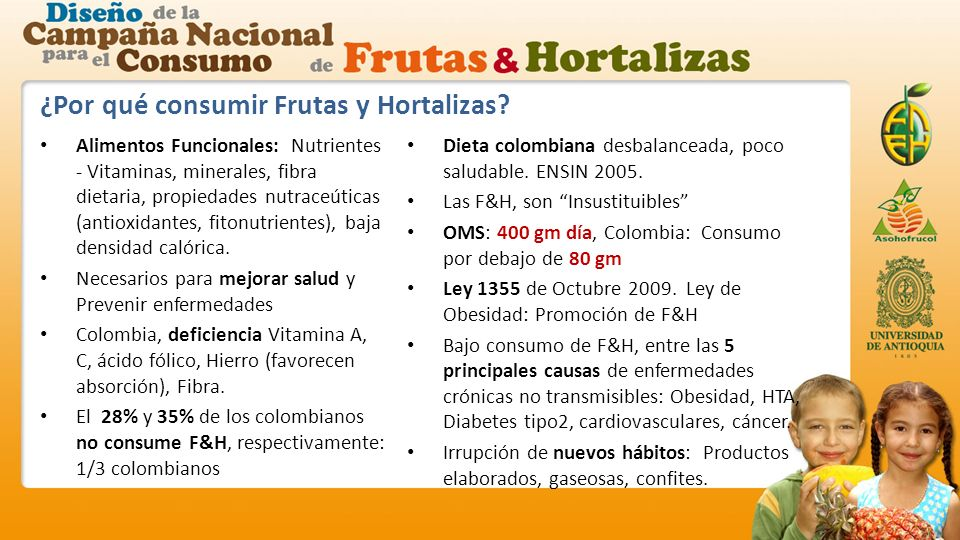¿Por qué consumir Frutas y Hortalizas