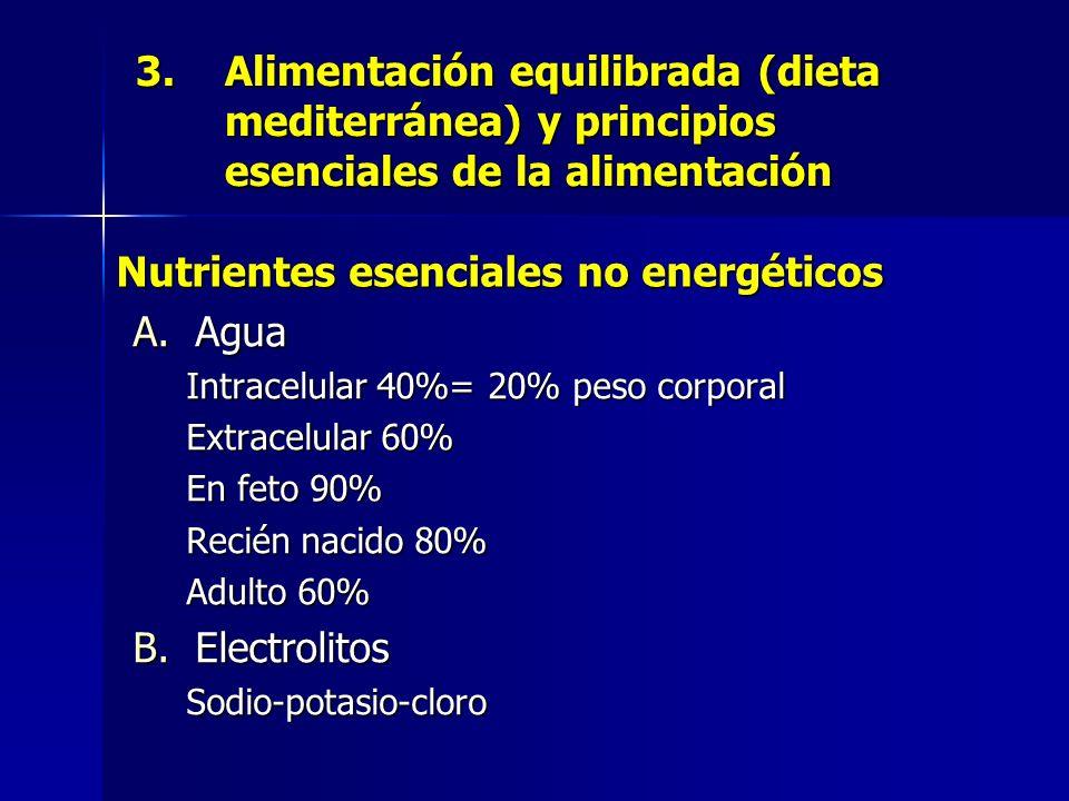 Nutrientes esenciales no energéticos