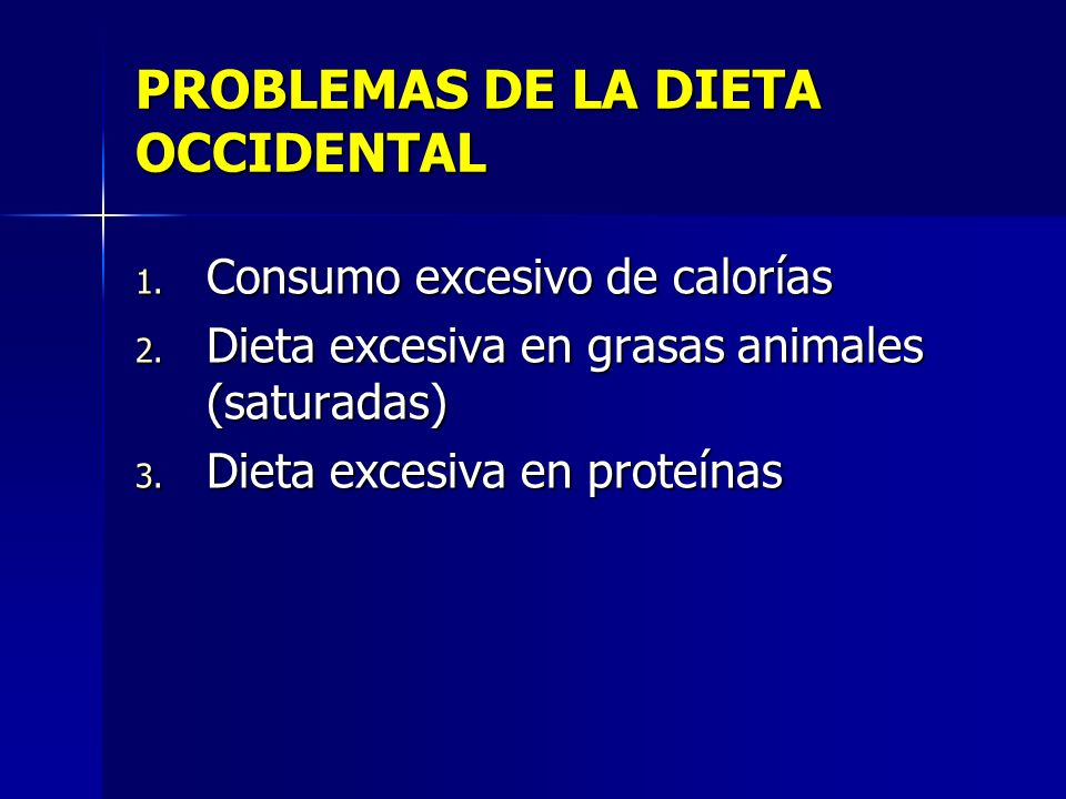 PROBLEMAS DE LA DIETA OCCIDENTAL