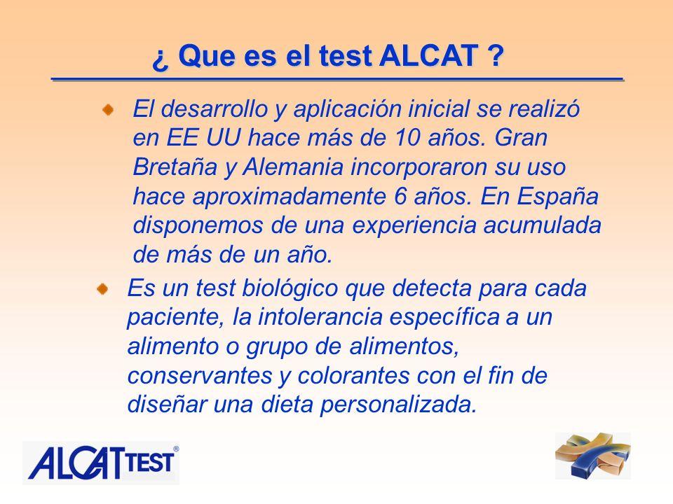 ¿ Que es el test ALCAT