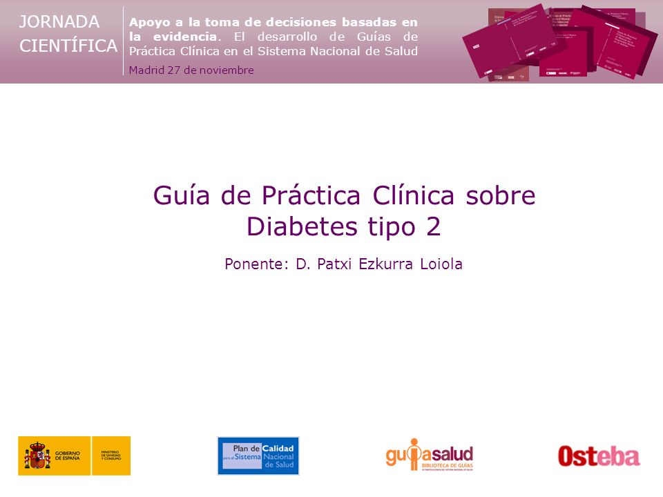 Guía de Práctica Clínica sobre Diabetes tipo 2 - ppt descargar