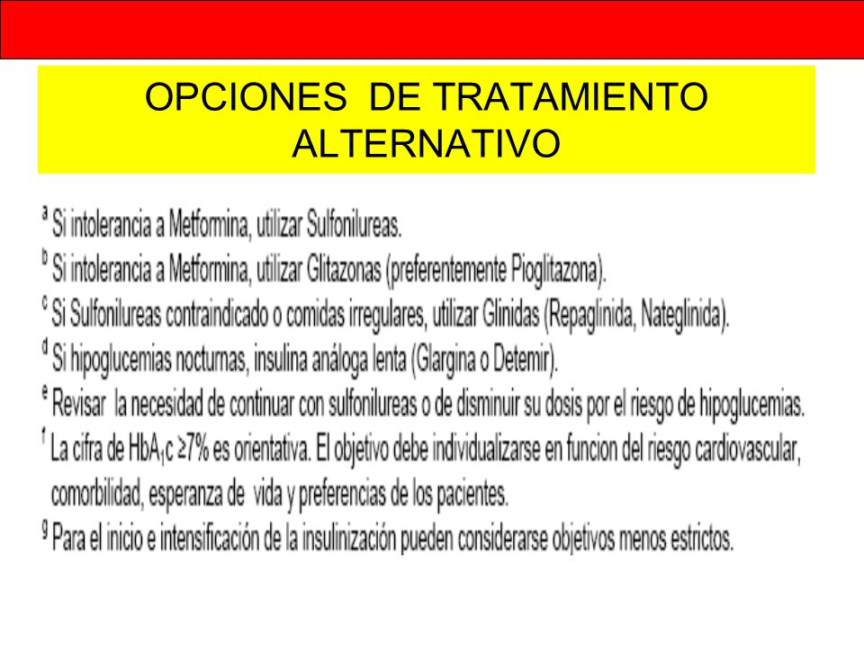 OPCIONES DE TRATAMIENTO ALTERNATIVO