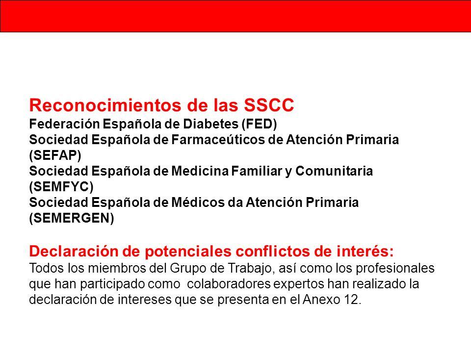 Reconocimientos de las SSCC