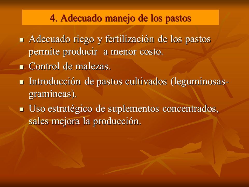 4. Adecuado manejo de los pastos