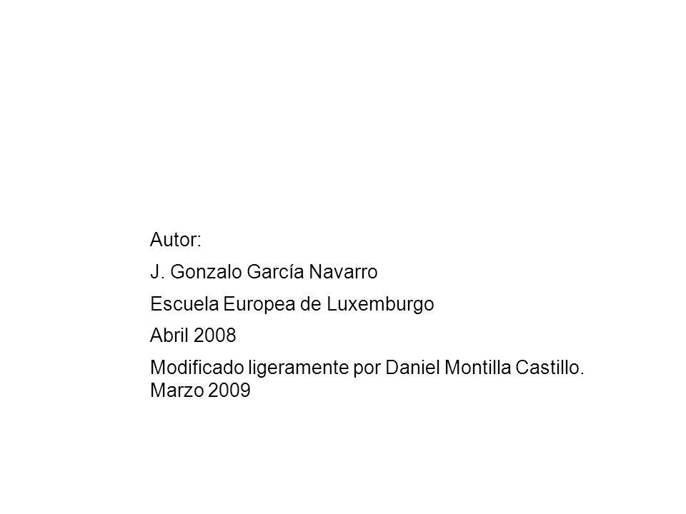 Autor: J. Gonzalo García Navarro. Escuela Europea de Luxemburgo.
