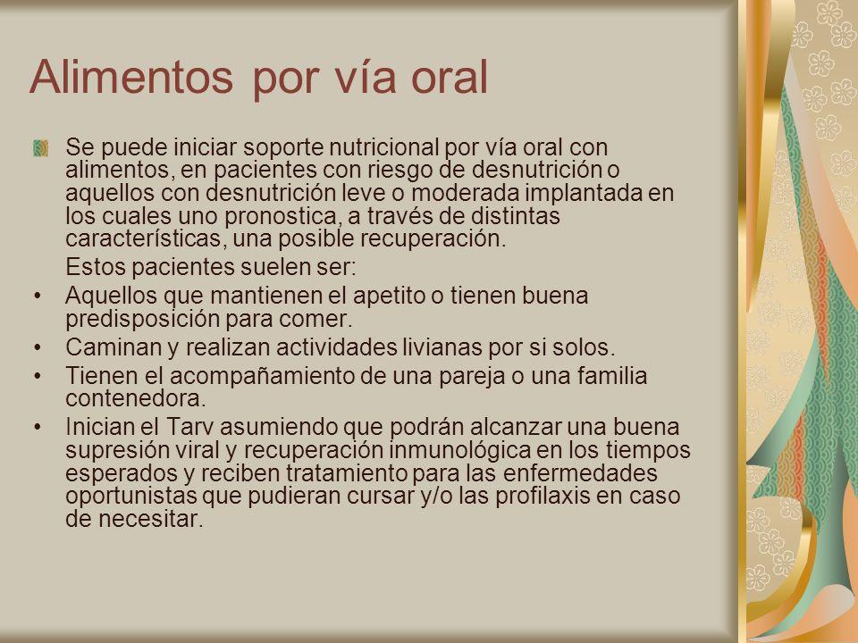 Alimentos por vía oral