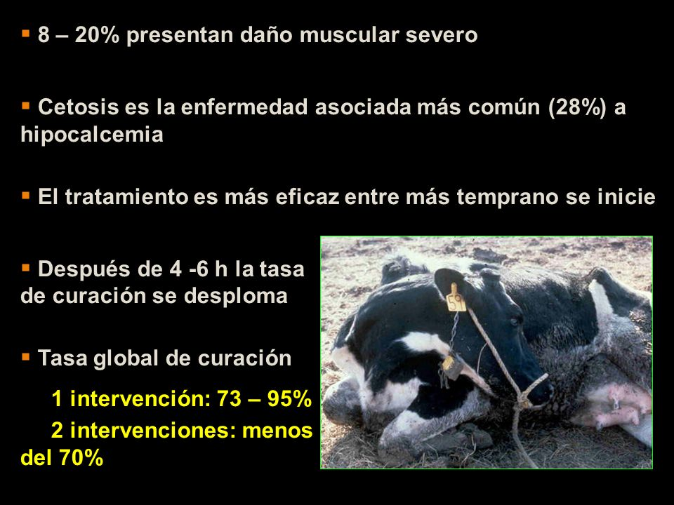 8 – 20% presentan daño muscular severo