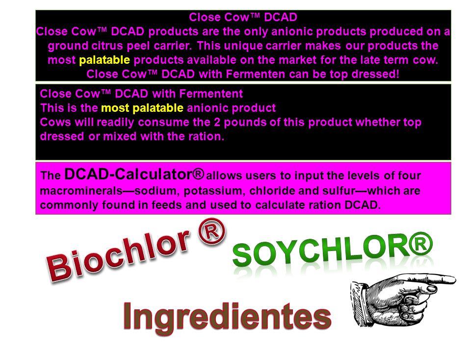 Biochlor ® Ingredientes